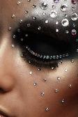 Retrato de mulher com maquiagem artística — Foto Stock
