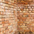 Wall from red bricks — 图库照片
