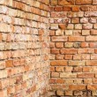 Wall from red bricks — Stockfoto
