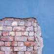 Wall with bricks - Stock Photo