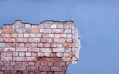 Wall with bricks — Stock Photo