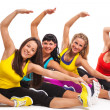 Group of women exercising over background — Stock Photo #22779764