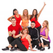 Group of people in fitness wear - Stock Photo
