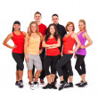 Постер, плакат: Group of in fitness wear