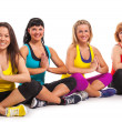 Group of women enjoying yoga — Foto de Stock