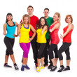 Group of people in fitness wear - Foto de Stock  