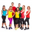 Group of people in fitness wear - Foto Stock