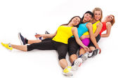 Group of women relaxes after exercises — Stock Photo