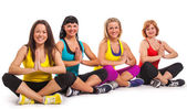 Group of women enjoying yoga — Stock Photo