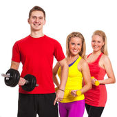 Group of in fitness wear — Stock Photo