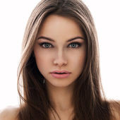 Young extraterrestrial woman's portret — Stock Photo