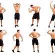 Image of young bodybuilder in different poses — Stock Photo #24984951