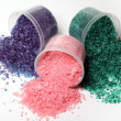 Colorful bath salt scattered - Lizenzfreies Foto