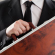 Document case in businessman hands — Stock Photo #25260715
