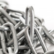 Silver metal chain on a background - Stock Photo