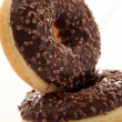 Fresh tasty donuts with chocolate glaze — Stock fotografie