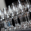 Closeup image of empty stemware — Stock Photo