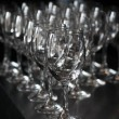 Closeup image of empty stemware - Stockfoto