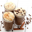 Ice coffee with whipped cream — Stock Photo #25389629