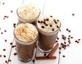 Café de glace à la crème fouettée — Photo