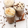 Ice coffee with whipped cream — Stock Photo #25390093