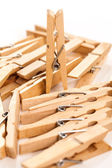 Closeup image of eco clothespins — Stock Photo
