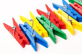Closeup image of colorful clothespins — Zdjęcie stockowe