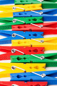 Renkli clothespins portre resmi — Stok fotoğraf