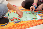 Young couple playing a game — Stock Photo