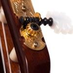 Closeup image of guitar fingerboard — Stock Photo