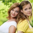 Two girls hanging out in park — Stock Photo #28719627
