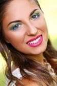 Kız güzel makyaj — Stok fotoğraf