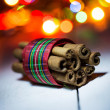 Wrapped cinnamon — Stock Photo
