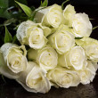 Bouquet of white roses — Stock fotografie
