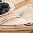 Blueberries on a plate — Stock Photo