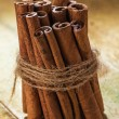 Stack of cinnamon — Foto Stock