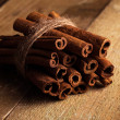 Stack of cinnamon — Stock Photo
