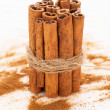 Stack of cinnamon — Stockfoto