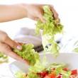 Vegetables being sliced — Stock Photo #31364497