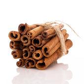 Stack of cinnamon — Stock Photo