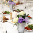 Dining table at a celebration — Stock Photo