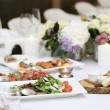 Dining table at a celebration — Stockfoto