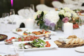 Dining table at a celebration — Foto de Stock
