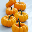 Stock Photo: Lots of small pumpkins