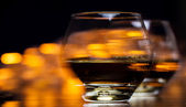 Two glasses of cognac — Stock Photo