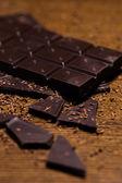 čokolády a prášek — Stock fotografie