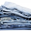 A pile of jeans — Stock Photo