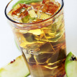 Apple juice with ice — Stockfoto