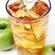 Apple juice with ice — Stock Photo