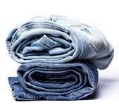Un montón de pantalones vaqueros — Foto de Stock